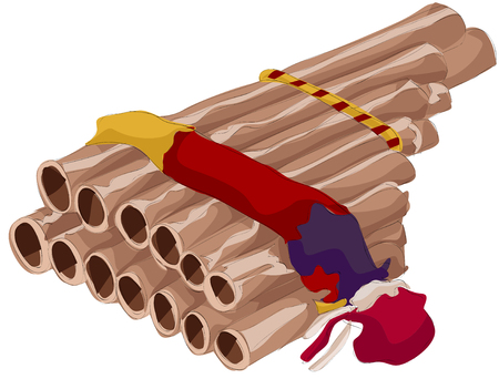Painting of pan flute