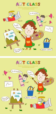 Art class story template with icons