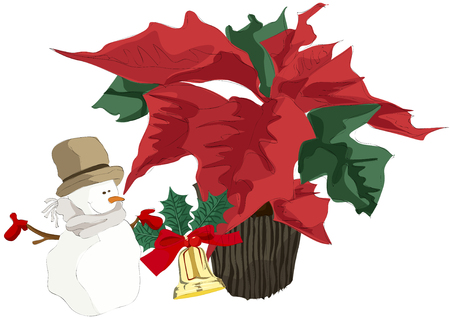 flowerpots: Painting of Christmas