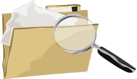Pintura de buscar documento Foto de archivo - 89923286