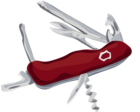 Painting of pocket knife