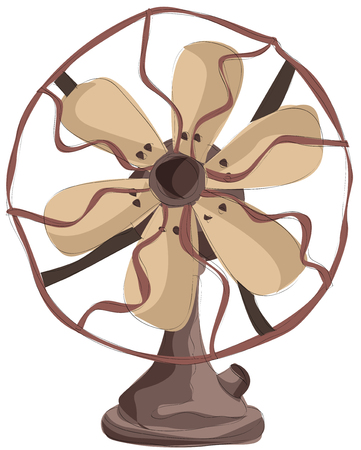 Painting of electric fan