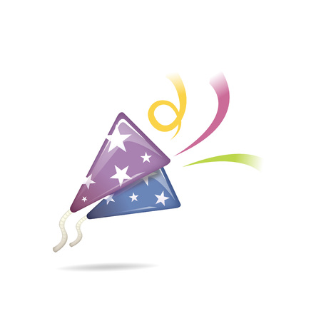 Party popper icon - isolated on white Illustration