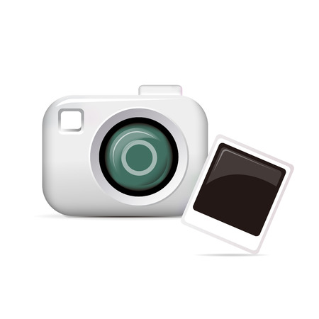 Camera icon - isolated on white Illustration
