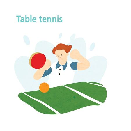 Man playing ping-pong