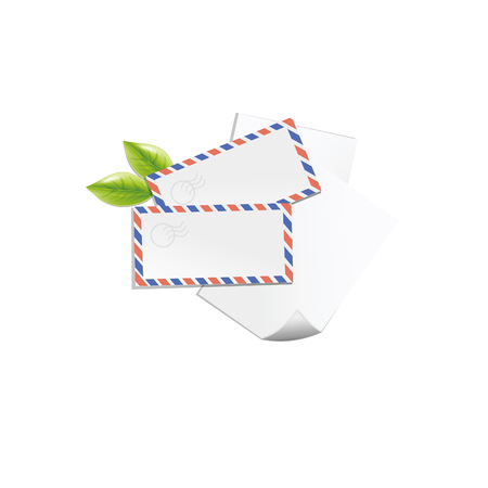 Mail icon isolated on white