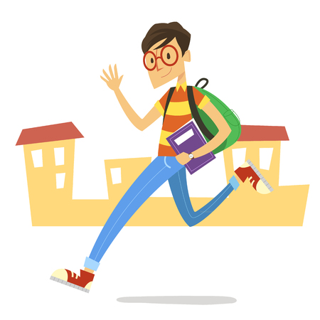 Student going to school