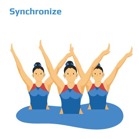 Synchroonzwemmen dames Stockfoto - 90230031
