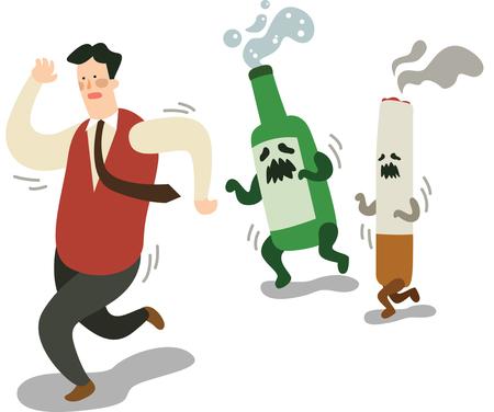 Man renounce smoking and drinking
