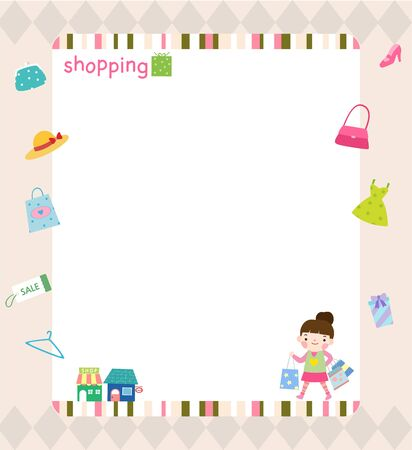 Shopping concept template Ilustrace