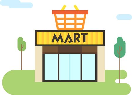 Shopping market flat icon