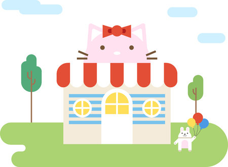 Toy store flat icon