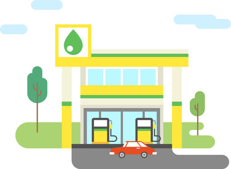 Tankstation platte pictogram