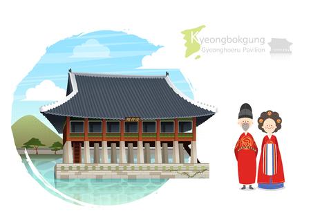 Tour attraction - Kyeongnbokgung gyeonghoeru pavilion