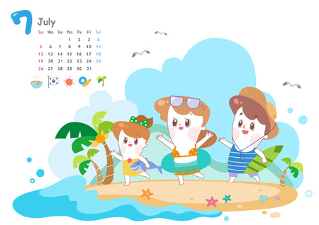 July with summer vacation