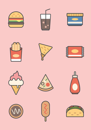 Set of food logo design