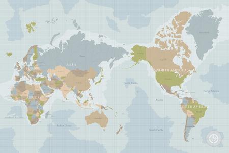 Vintage map of the world Reklamní fotografie - 90363825