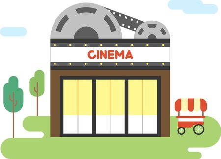 Cinema flat icon