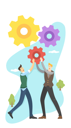 Businessmen collaborating Illustration