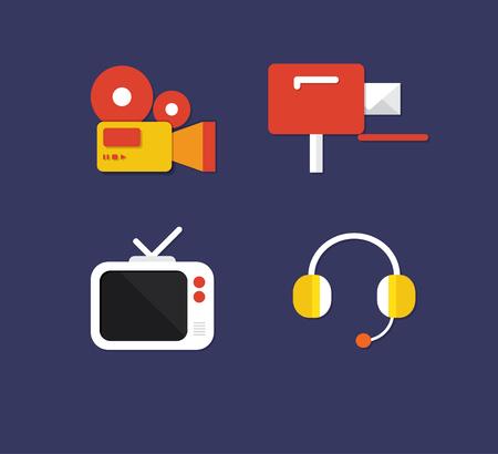Set of various lifestyle concept logo Çizim