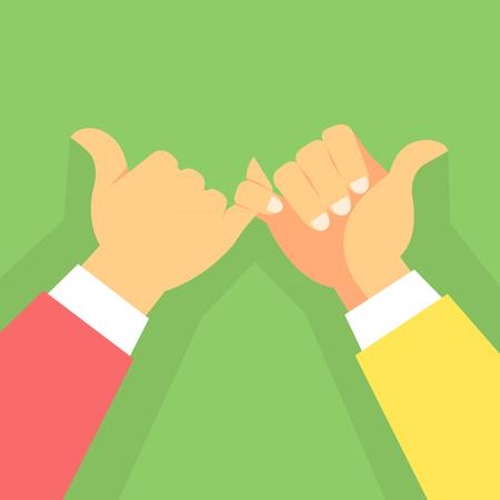 Hand swear gesture Stock Illustratie