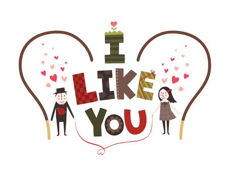 I like you - typography