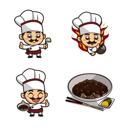 Chinese chef advertising jajangmyeon