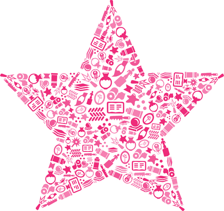 Star design with various icon