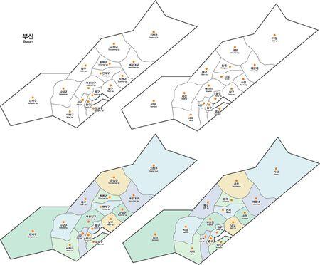 Map of Korea Busan