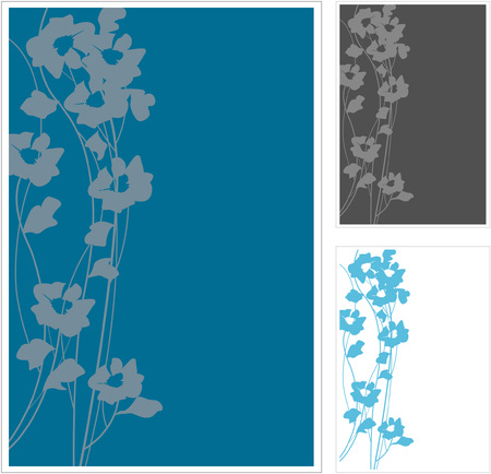 Various color of flower pattern Ilustrace