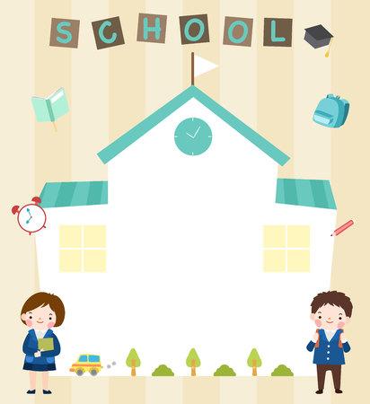 School concept template Ilustrace