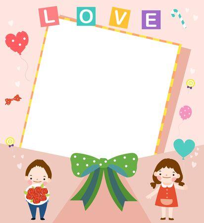 Love concept template Ilustrace