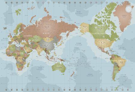 Vintage map of the world Reklamní fotografie - 90413605