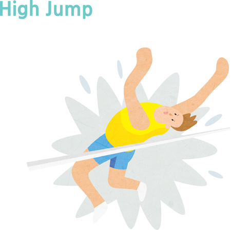 High jump in track and field Illustration