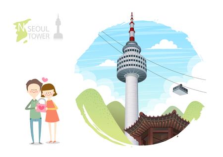 Tour attraction - Namsan Seoul tower