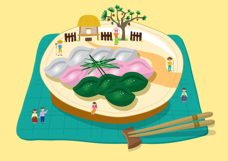 Chuseok - songpyen on plate
