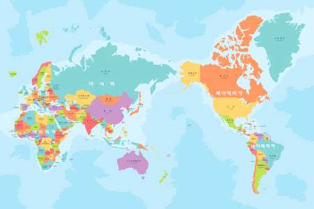 Map of the world Ilustrace