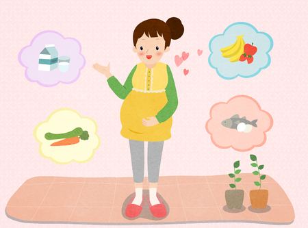 Pregnant woman diet and healthy nutrition