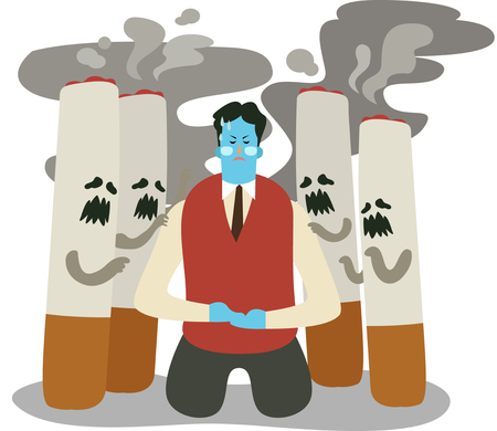 Man renounce smoking