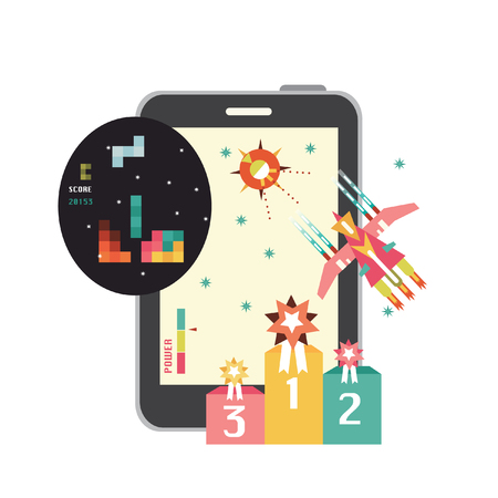 Smartphone with game icon