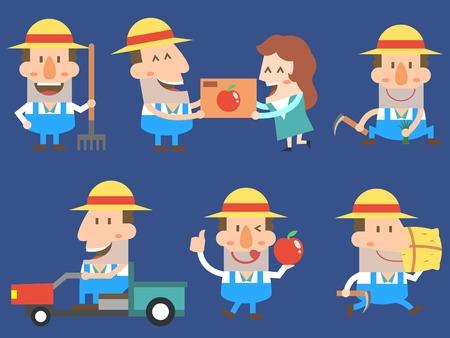 Set of various farmer icon