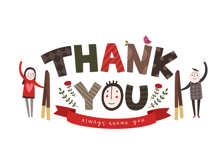 Thank you - typography