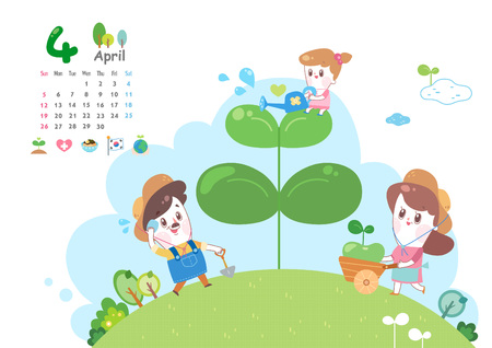 April with Arbor day