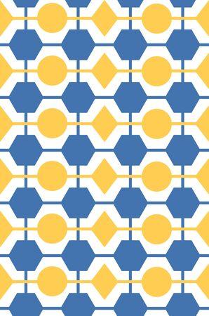 Repeating retro network pattern Ilustrace