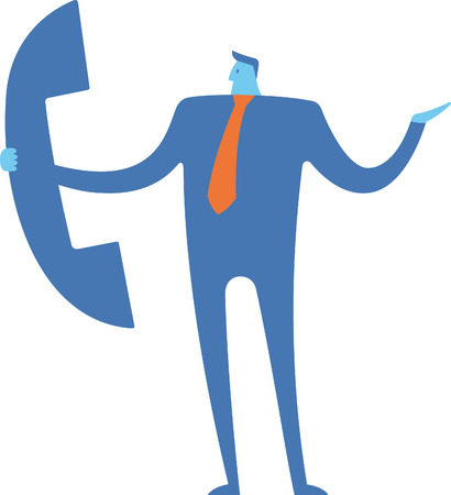 Businessman talking to the phone Ilustrace
