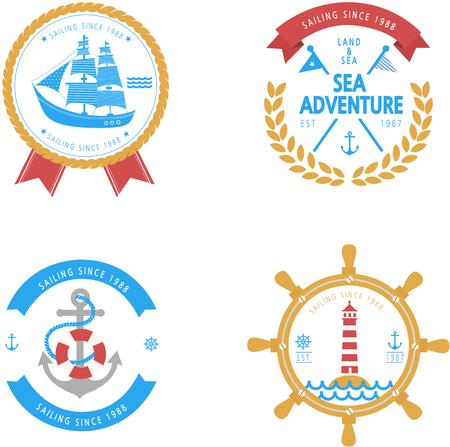 Set of Sea adventure icon