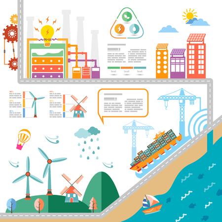 Krachtcentrale infographic met pictogram
