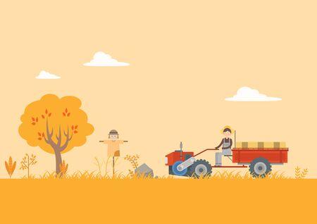 People harvest at field