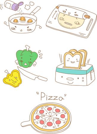 Set of cooking logo design Illustration