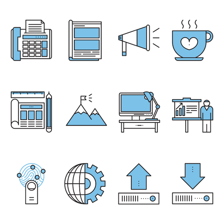 Set of various business icon